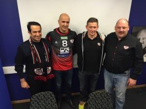 Ahmad Al-Shohomi, Zoran Roganovic, Stian Tönnesen och Jörgen Rasmussen har alla stora planer för HK Malmö.