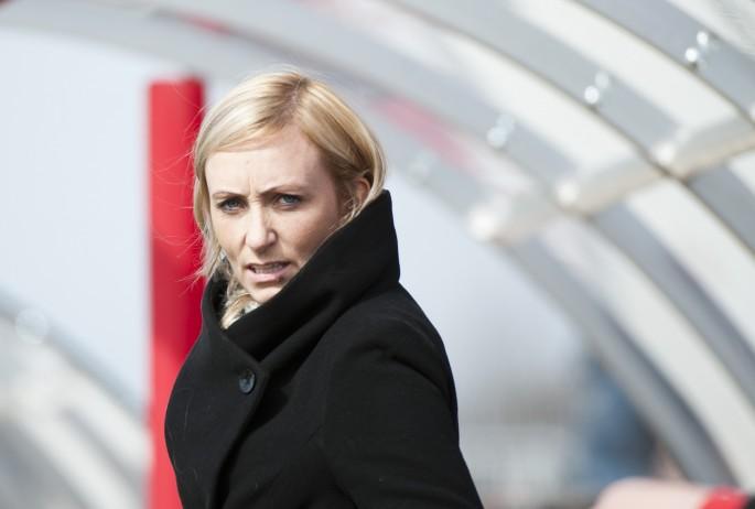 Elísabet Gunnarsdóttir är inte nöjd med att gennes lag inte fått en straff på tre och ett halvt år. Foto: Bildbyrån