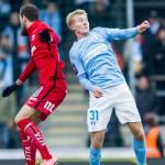 Franz Brorsson vann sina dueller mot IFK Norrköpings Emir Kujovic i söndags.                                                Foto: Bildbyrån