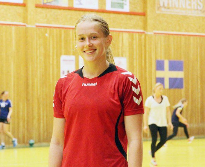 Emma Lindqvist räknar främst med speltid som försvarare när hon i höst gör sina första Elitseriematcher med H65. Foto: Nils-Åke Åkesson