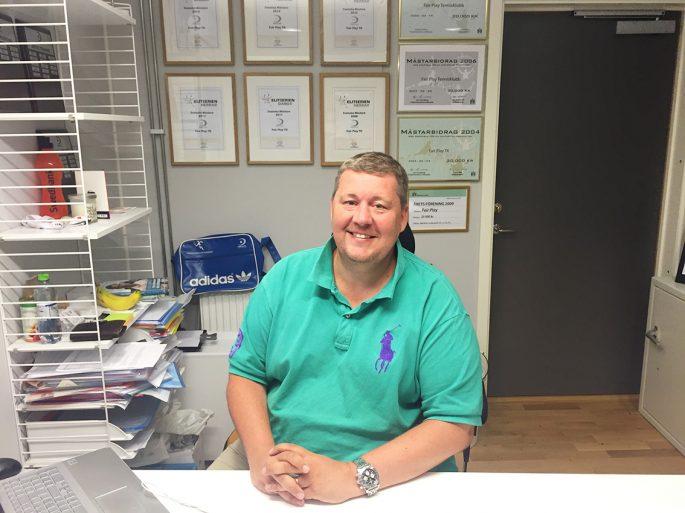 Janne Immonen är en glad klubbchef i veckans förening i fokus.