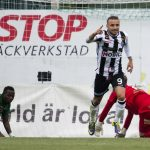 160620 Landskronas Filip Pivkovski jublar efter 2-0 mŒlet under fotbollsmatchen i Division 1 Sšdra mellan Landskrona och Prespa Birlik den 20 juni 2016 i Landskrona. Foto: Avdo Bilkanovic / BILDBYRN / COP 115