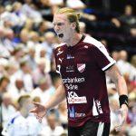 160913 Lugis Simon Jeppsson jublar under handbollsmatchen i Handbollsligan mellan Ystads IF HF och Lugi den 13 september 2016 i Ystad. Foto: Christian …rnberg / BILDBYRN / Cop 166