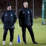170112 TrŠnare Jonas Thern och HŒkan Svensson under en fotbollstrŠning med Landskrona den 12 januari 2017 i Landskrona. Foto: Ludvig Thunman / BILDBYRN / kod LT / 35275