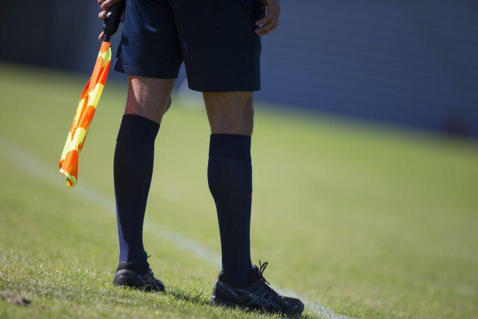150703 Domare Odai Alwanis under Svenska fotbollsfšrbundets elitlŠger i Halmstad den 3 Juli 2015 i Halmstad. Foto: Robert Boman / BILDBYRN / Cop 160