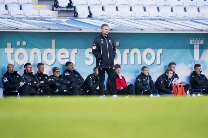 170323 Malmš FFs trŠnare Magnus Pehrsson under trŠningsmatchen i fotboll mellan Malmš FF och AFC Eskilstuna den 23 mars 2017 i Malmš. Foto: Ludvig Thunman / BILDBYRN / kod LT / 35321