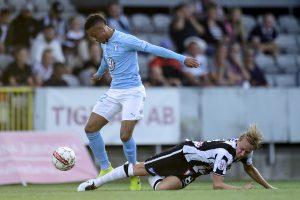 Vid segern i cupmatchen mot MFF var Måns Ekvall grym, och tog bland annat hand om Tobias Sana.