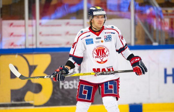 161018 VŠsterviks Olle Liss under ishockeymatchen i Hockeyallsvenskan mellan TimrŒ och VŠstervik den 18 oktober 2016 i TimrŒ. Foto: PŠr Olert / BILDBYRN / Cop 108