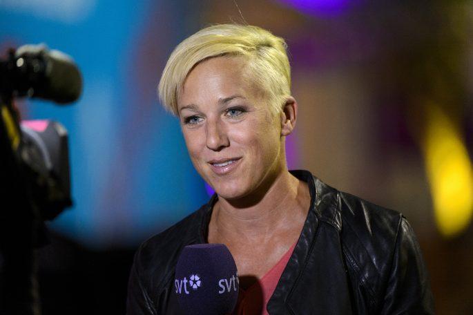 140814 Kajsa Bergqvist gšr TV med SVT under dag 3 av EM i friidrott den 14 augusti 2014 i ZŸrich, Schweiz. Foto: Carl Sandin / BILDBYRN / kod CS / 57445
