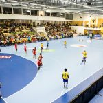 151202 Spel i Eslšvshallen under handbollslandskampen mellan Sverige och RumŠnien den 2 december 2015 i Eslšv. Foto: Petter Arvidson / BILDBYRN / kod PA / 91264