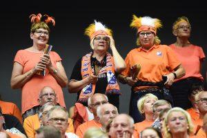 170527 Kristianstads supportrar under SM-finalen i Handbollsligan mellan Kristianstad och AlingsŒs den 27 maj 2017 i Malmš. Foto: Ludvig Thunman / BILDBYRN / kod LT / 35334