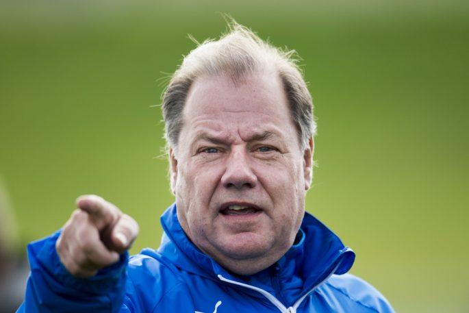 141012 Lunds trŠnare Nils-Erik Persson under fotbollsmatchen i Division 1 sšdra mellan Lunds BK och Trelleborg den 12 oktober 2014 i Lund. Foto: Petter Arvidson / BILDBYRN / kod PA / Cop 110