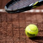 150701 En tennisboll nŠr  lag-SM i tennis spelas under dag 3 av SM-veckan den 1 juli 2015 i Sundsvall. Foto: Nils Jakobsson / BILDBYRN / kod NJ / 74124