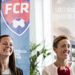 160608 Lotta Schelin och sportchef Therese Sjšgran under en presskonferens dŠr hon presenteras som ny spelare fšr FC RosengŒrd den 8 juni 2016 i Malmš. Foto: Petter Arvidson / BILDBYRN / kod PA / 91409