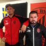 Richard Persson och Haxhi Restelica i FK Besa.
