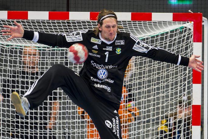170510 Ystads mŒlvakt Anders Persson under semifinal 1 i SM-slutspelet i handboll mellan Kristianstad och Ystad den 10 maj 2017 i Kristianstad. Foto: Avdo Bilkanovic / BILDBYRN / COP115
