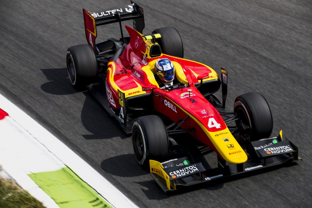 2017 FIA Formula 2 Round 9. Autodromo Nazionale di Monza, Monza, Italy. Friday 1 September 2017. Gustav Malja (SWE, Racing Engineering). Photo: Zak Mauger/FIA Formula 2. ref: Digital Image _54I5907