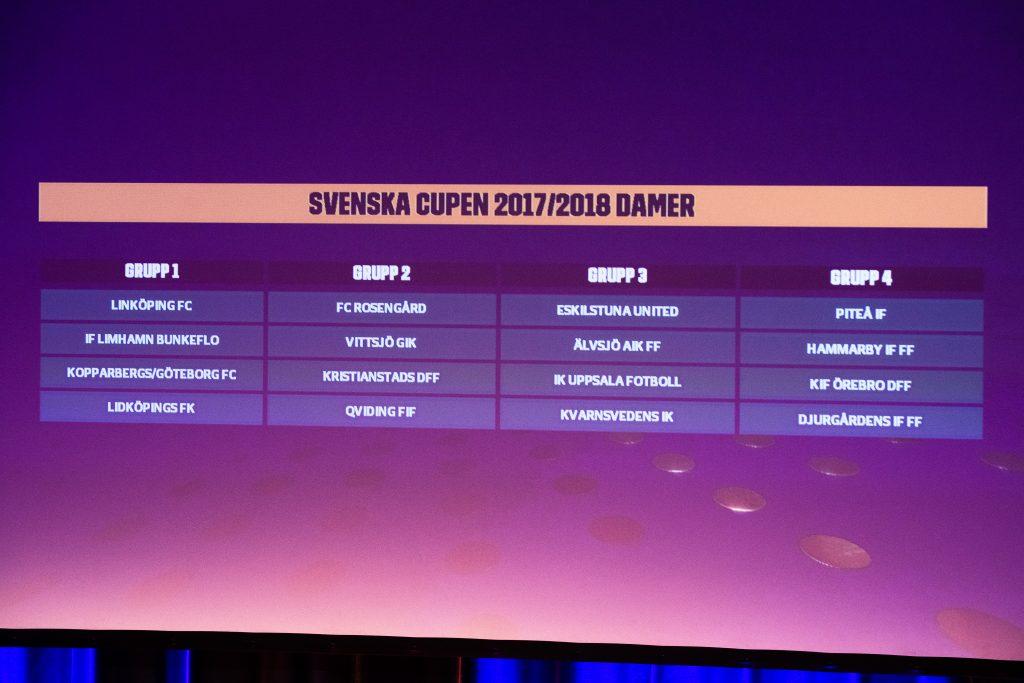 171120 Lottningen till Svenska Cupen Dam under Fotbollsgalan den 20 november 2017 i Stockholm. Foto: Ludvig Thunman / BILDBYRN / kod LT / 35384